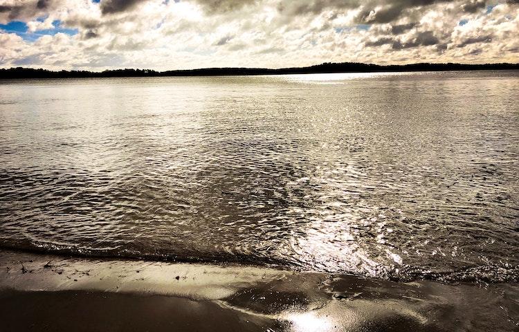 Vatten och horisont.