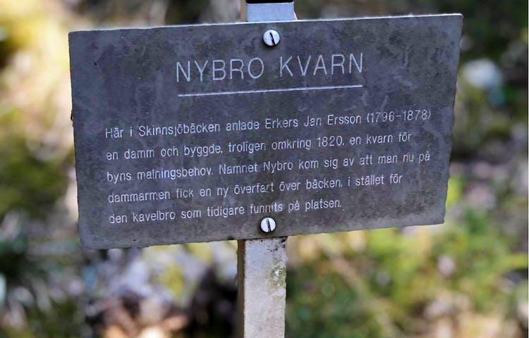 Informationstavlor i Bensåsen.