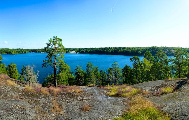 Utsikt över sjön Flaten. Foto: Johan Pontén
